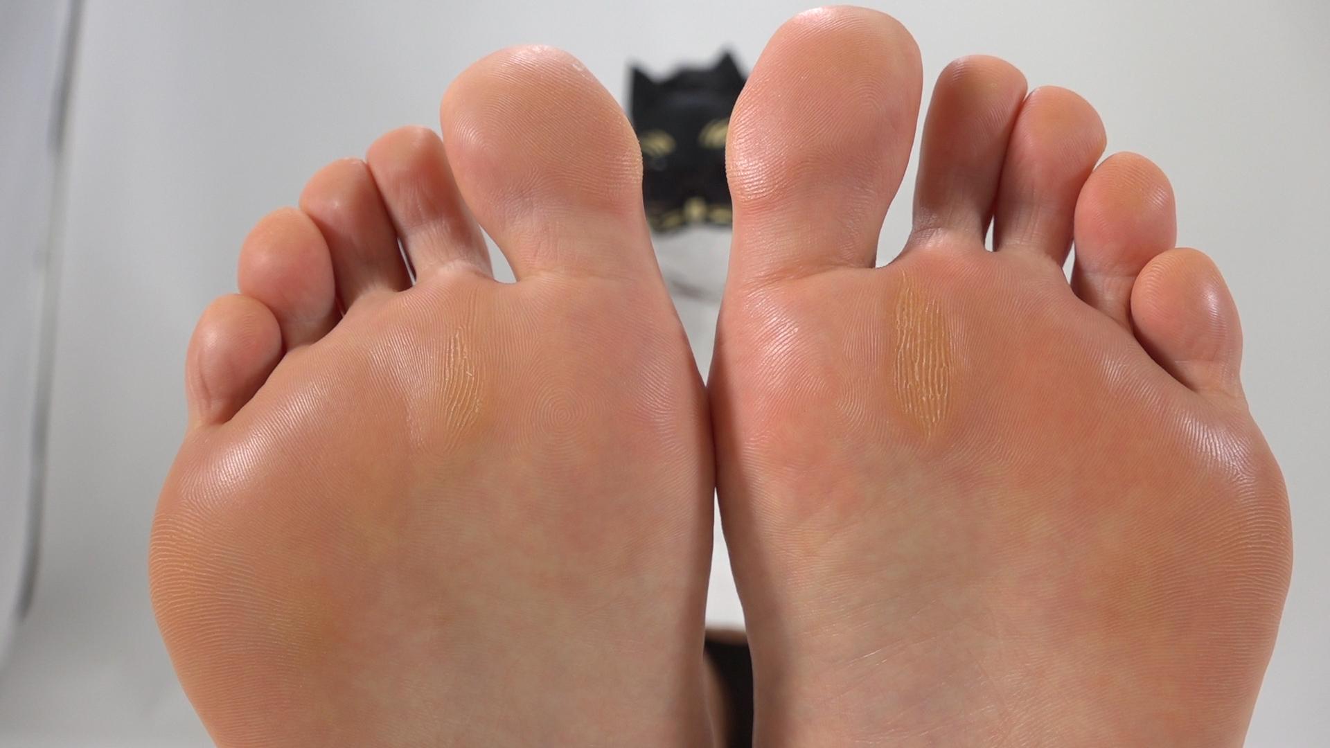 看護婦さんの足の裏